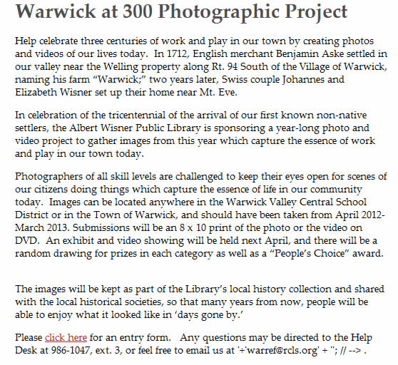 warwick at 300 photographic Project