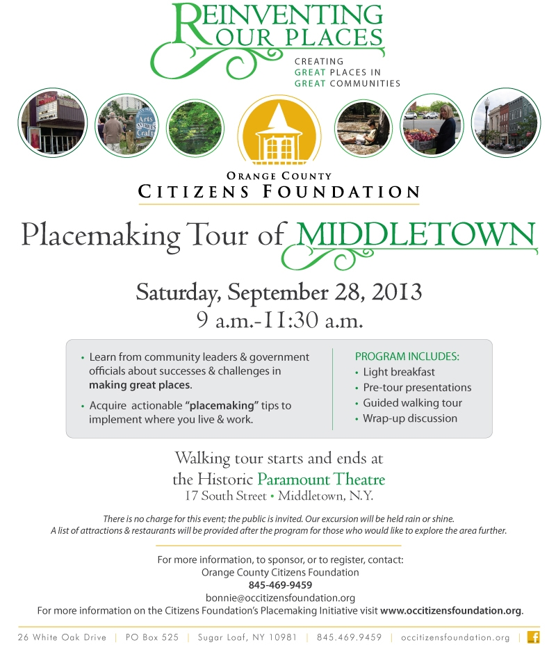 Middletown Placemaking tour e-blast